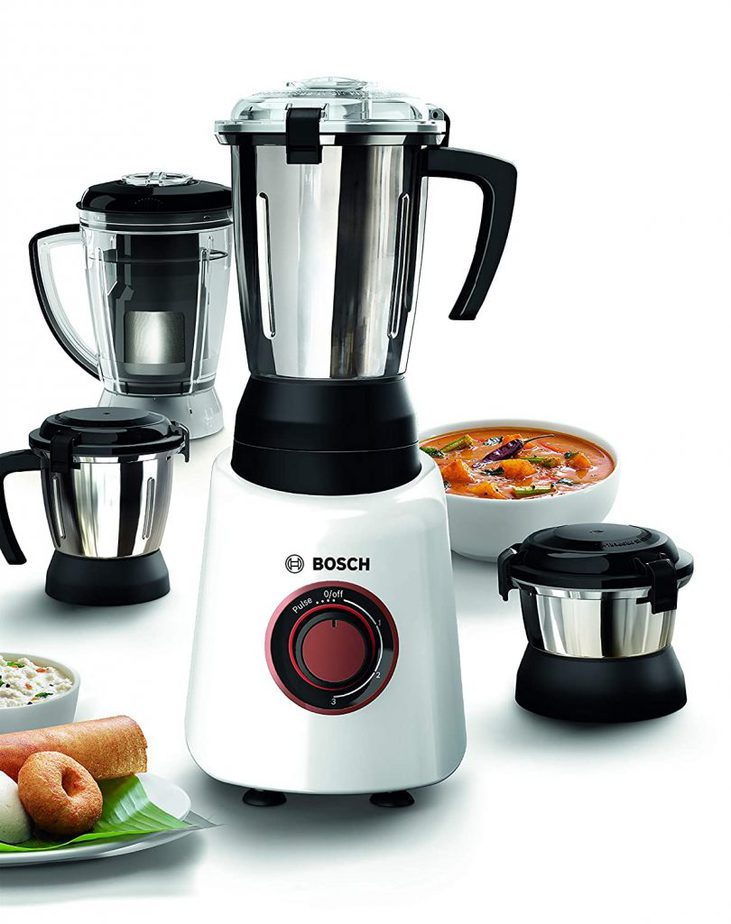 Bosch 750 Watts Mixer Grinder With 4 Jars